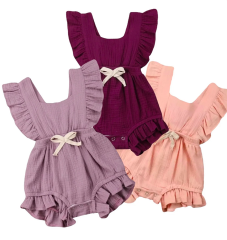 Irish Layered Ruffles Romper