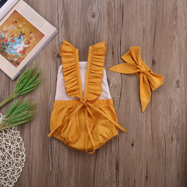 Sleeveless Romper with Headband