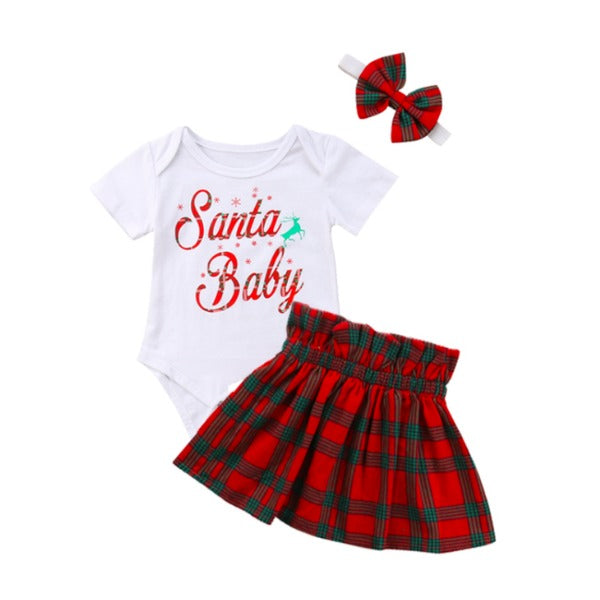 Santa Baby Checkered Set