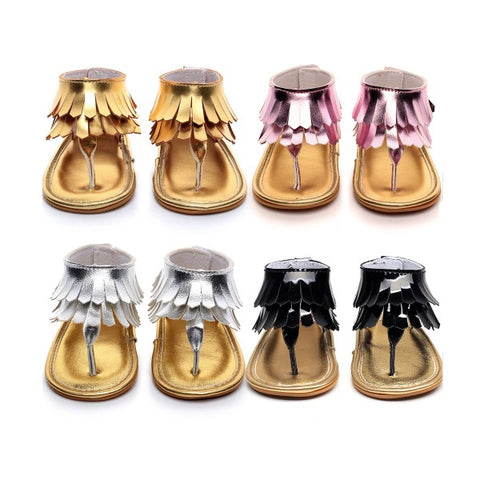 Flashy Tassel Sandals