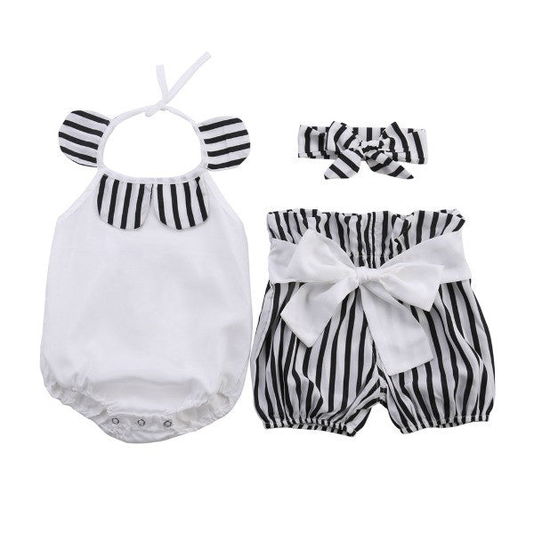 Romper + Bow Shorts Set