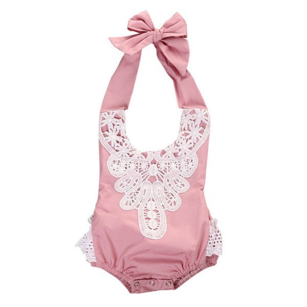 Laced Halter Sunsuit