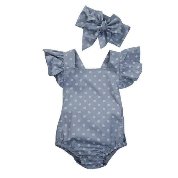 Polka Dot Playsuit Set