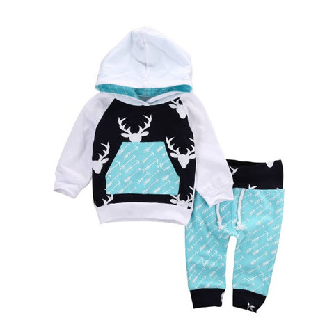Reindeer Hooded Set