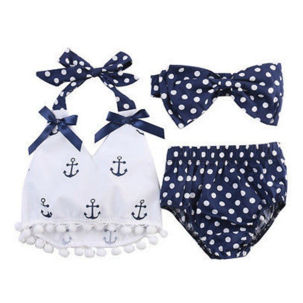 Anchor Polka Dot Set