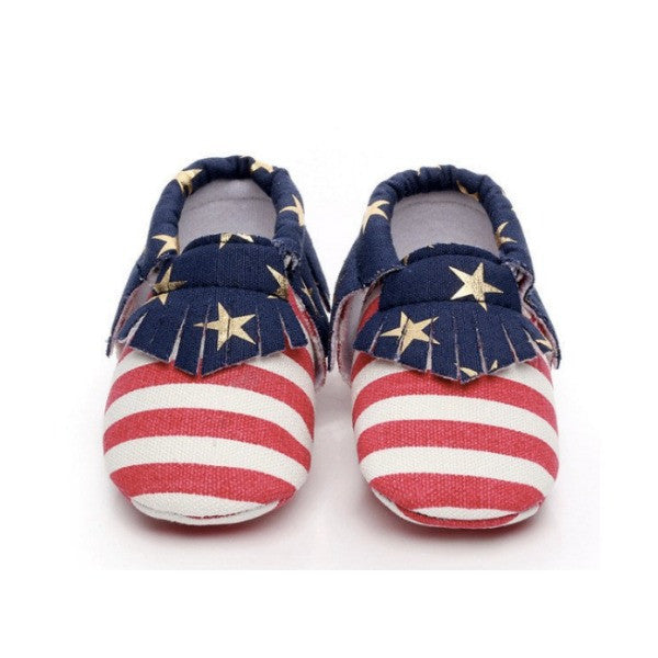 Flag Baby Moccasins