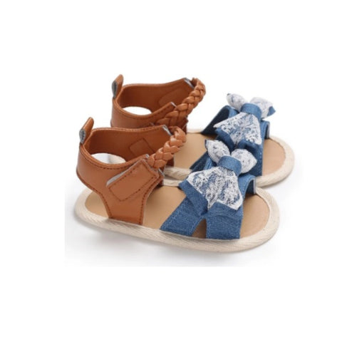 Denim BowTie Sandals