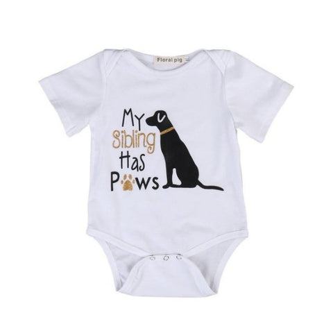 1 My Sibling Has Paws  Romper Set