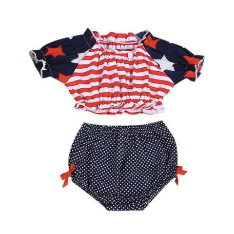 USA Flag Bloomers Set