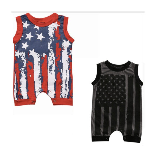 Star Spangled Banner Rompers