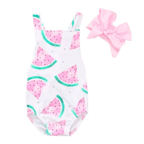 Watermelon Sunsuit Set