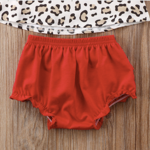 Leopard Top & Bloomers Set
