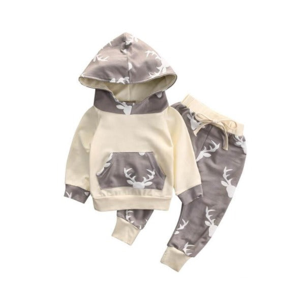 Deer Hooded Bright Set