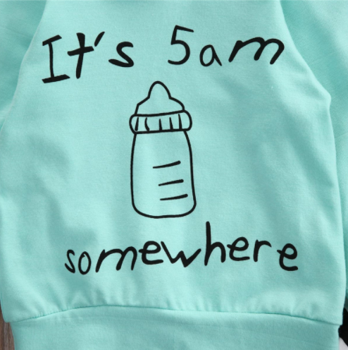 """It's 5am Somewhere"" Hoodie Set"