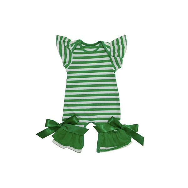 Green Striped Romper