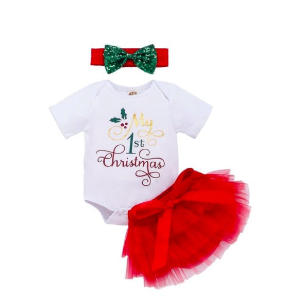 A My First Christmas TuTu Set