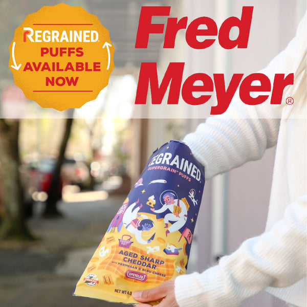 ReGrained launches Puffs in Kroger through Fred Meyer Superstores and Ship To Home Service