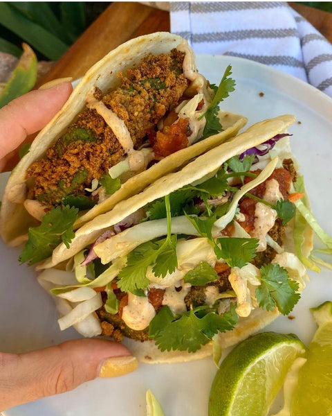 ReGrained Upcycled Crispy Avocado Tacos Recipe