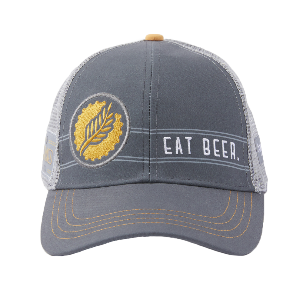"""Eat Beer"" Technical Trucker Hat"