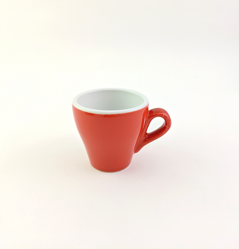 Espresso tulip shape cup ACF 2.25 oz red (imperfections)