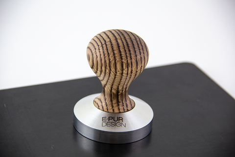 Burnt Red Oak wooden coffee tamper