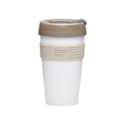 Tall KeepCup Classic white, sand and light brown - 16 oz