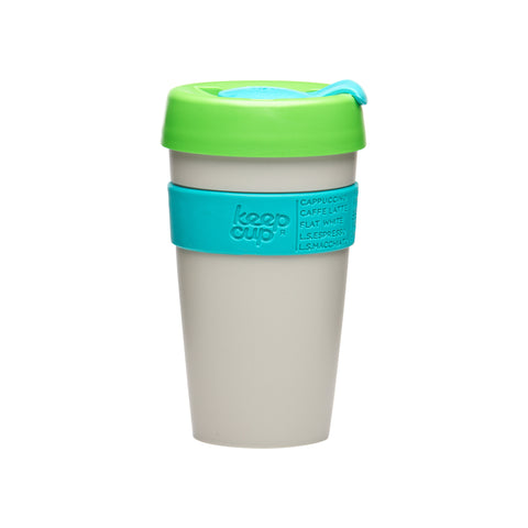 Tall KeepCup Classic sand, turquoise and green - 16 oz