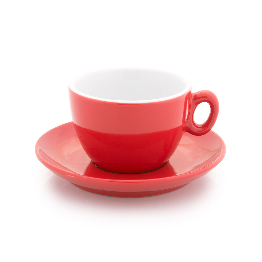 Red cappuccino cup 6 oz - Tasse cappuccino rouge