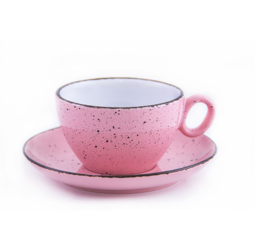 Inker porcelain coffee cup pink - Latte 9 oz