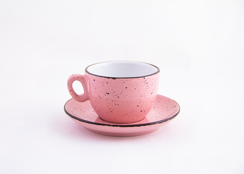 Demitasse cappuccino 6 oz - Iris Dots Collection - Pink