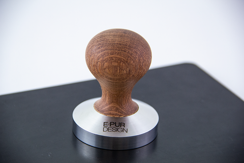 Lacewood wooden coffee tamper