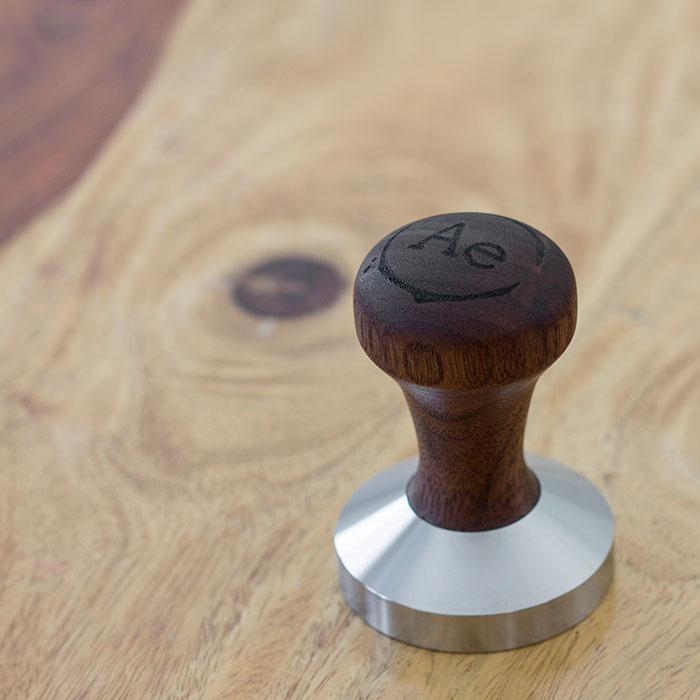 Black Walnut wooden coffee tamper