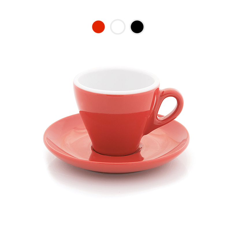 Tulip shape espresso cups, 2.8 oz in 3 colors