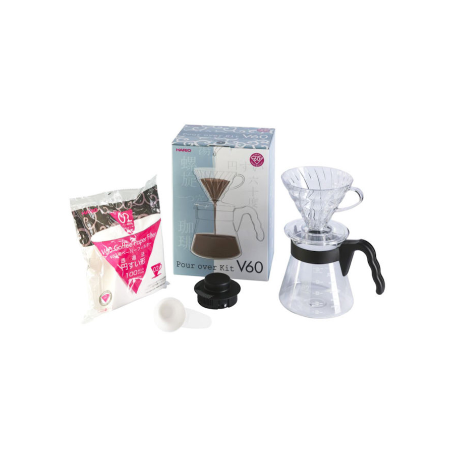 Hario V60 Pour Over Coffee Starter Kit, Size 02