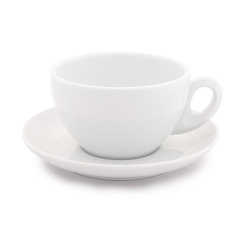 white latte cup 9 oz demitasse