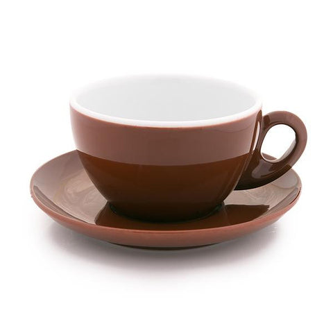 brown latte cup 9 oz demitasse