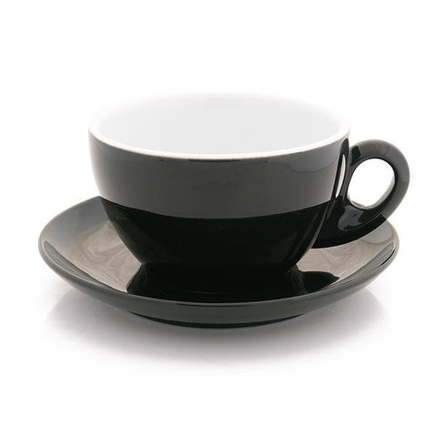 black latte cup 10 oz demitasse