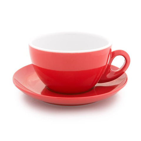 Red latte cup 12 oz demitasse