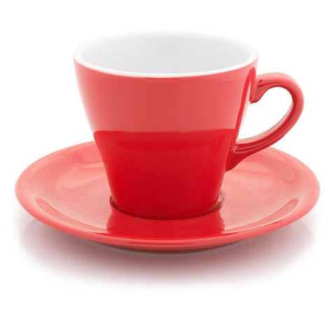 Red Tulip shape Latte cup 10 oz - Tasse tulipe à latté rouge