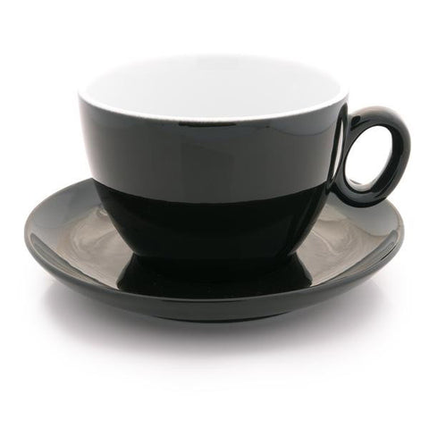 Black latte cup 12 oz demitasse