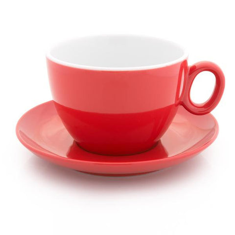red latte cup 9 oz demitasse