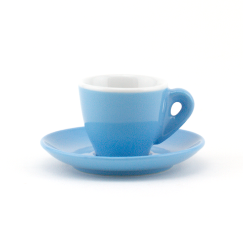 Espresso cup 2.2 oz blue demitasse shape