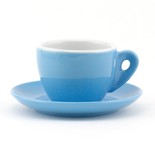 Cappuccino cup 6.33 oz blue demitasse shape