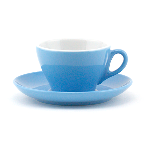Flat white cup 5.33 oz blue