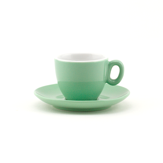 Espresso cup 2.5 oz green demitasse shape