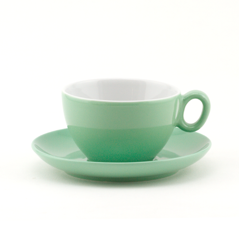 Latte cup 8.8 oz green demitasse shape