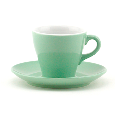 Latte cup 9.8 oz green tulip shape
