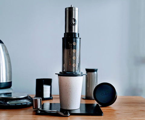 Aeropress -Rhino Compact Hand Grinder - Reusable travel rCUP