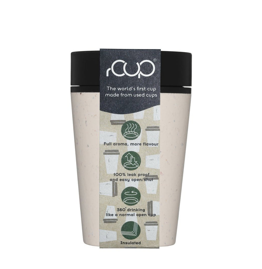rCUP reusable cup - Cream and Black