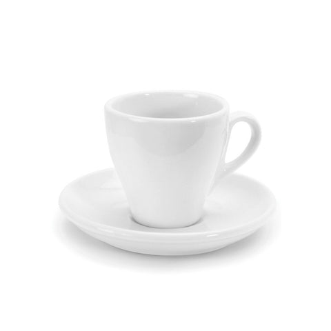 White Tulip shape Danesco Cappuccino cup and saucer - 5.5 oz